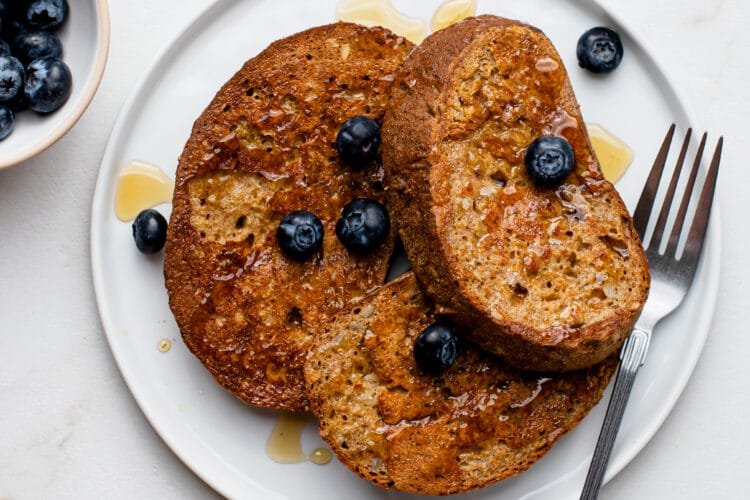 Our Oven Baked Sheet Pan French Toast is decadent, healthy, and easy!