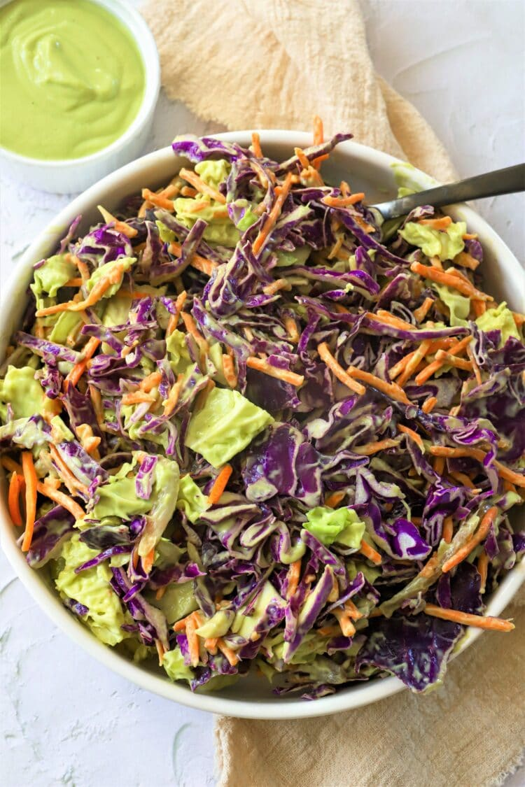 This coleslaw recipe is completely vegan-friendly!