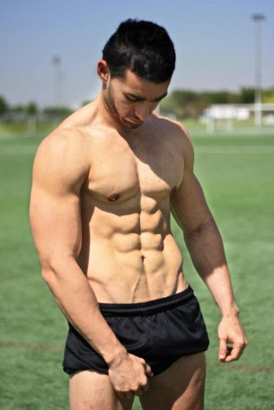 Ahmed Saleh six pack abs