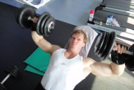 Christopher Maslon bench press