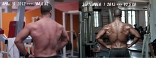 Nassim Sahili back transformation