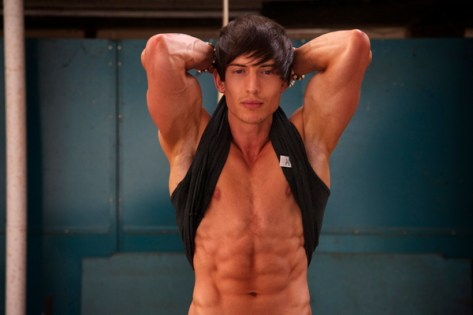 Alexander Hughes six pack abs