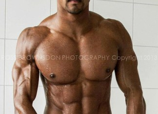 Johnny Starr abs, pecks and biceps