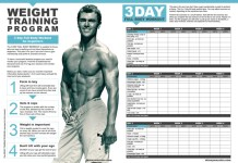 Weight training program: 3 day full body workout for beginners