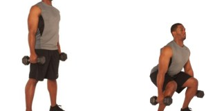 Benefits of squats and the Skinny Muscles Squat Challenge - Dumbbell squat