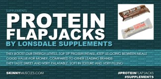 Protein flapjacks by Lonsdale Supplements