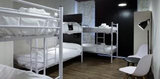 A hostel room