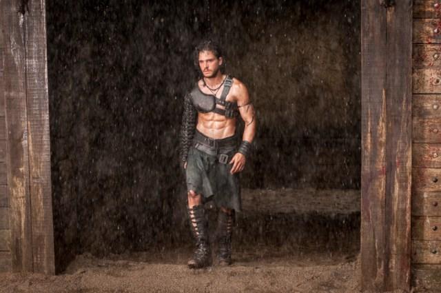 Kit Harington as Milo entering the gladiator's arena