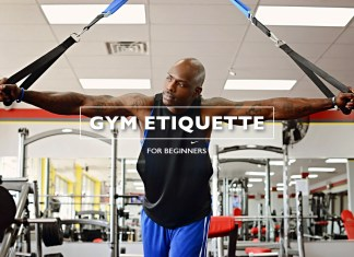 guy with muscles in gym