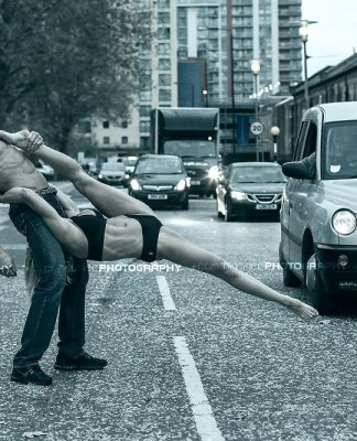 male and female fitness models posing in London
