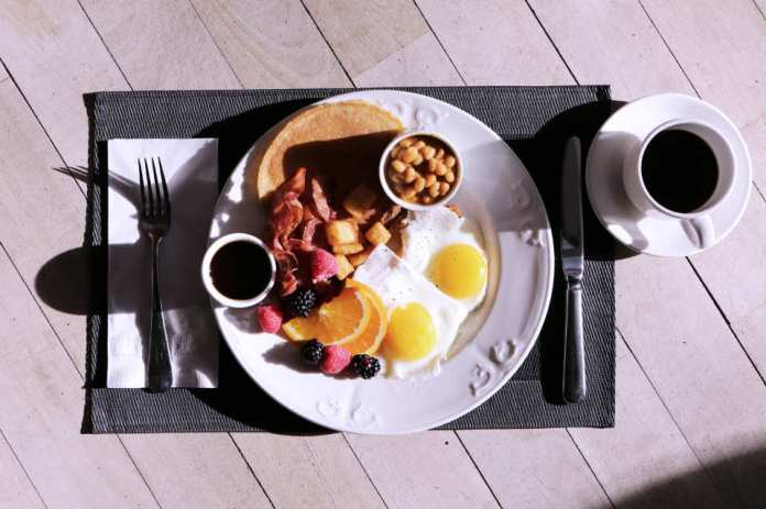 healthy full english breakfast, six pack abs