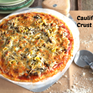 Paleo Cauliflower Crust Pizza Recipe