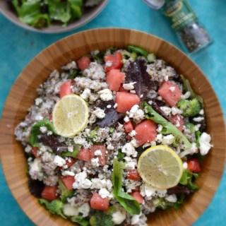 Detoxifying Arugula Watermelon Feta Salad with Mint