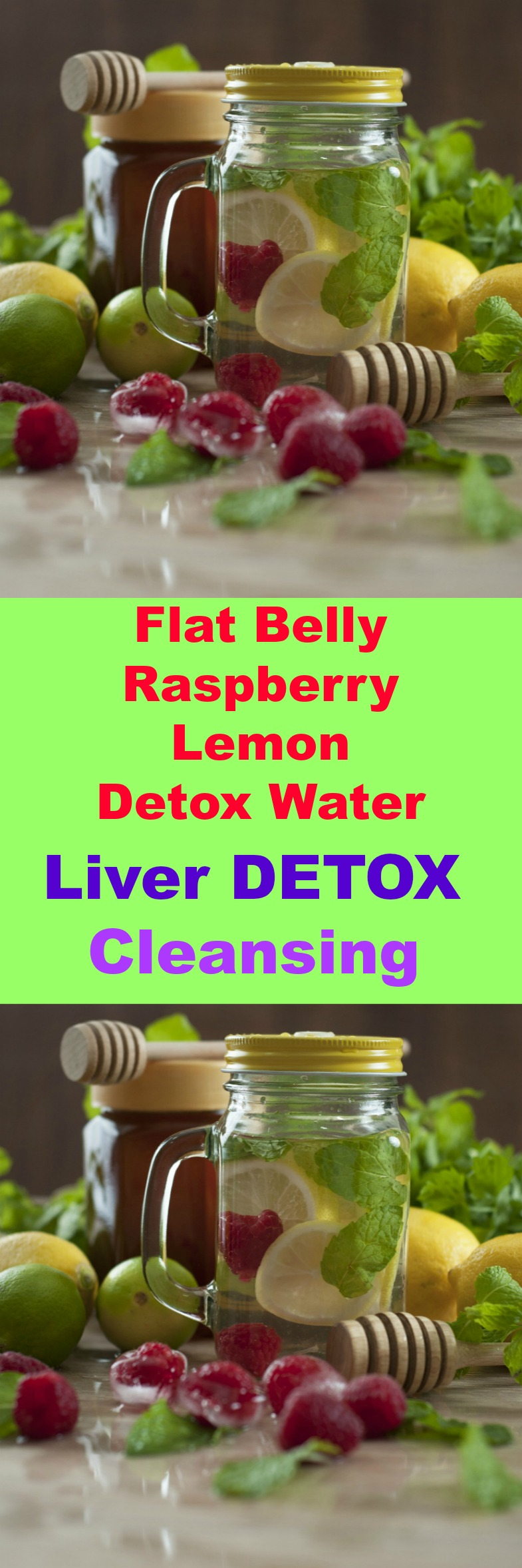 Flat Belly Raspberry Lemon Detox Water to help you with belly bloat! Drink this all day to help flush those toxins from your kidneys, liver, and colon.