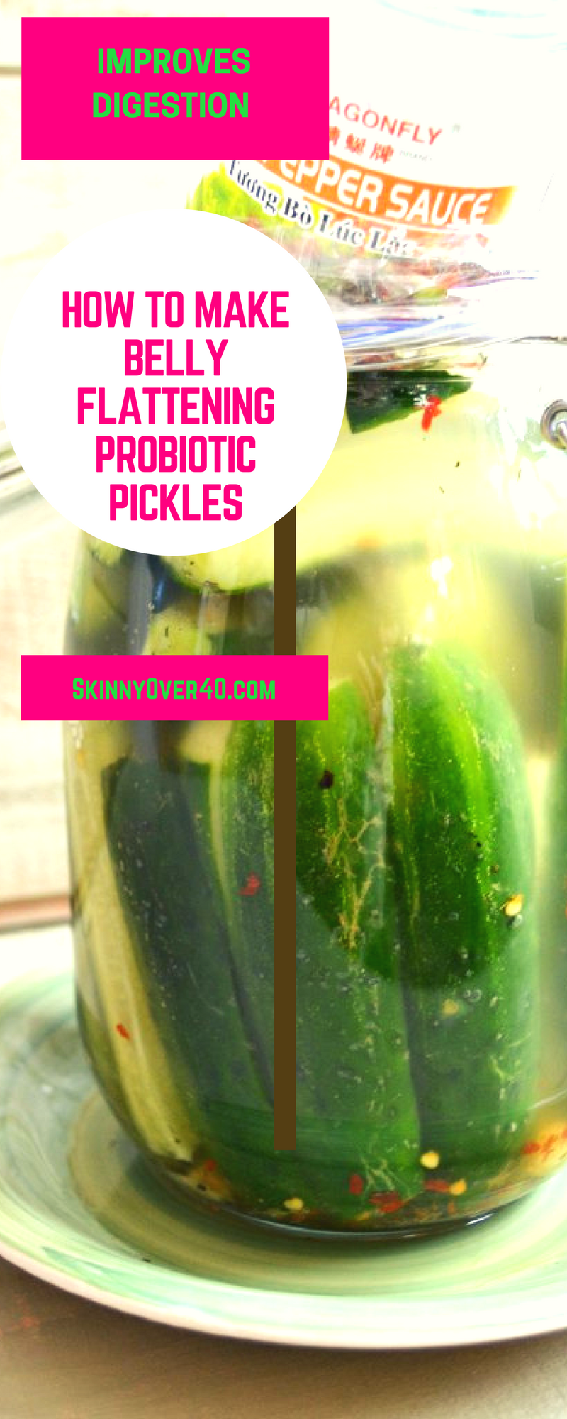How to make homemade Probiotic Horseradish half sour pickles. Eating Probiotic Fermented foods will help you lose weight, flatten your belly and help with digestion.