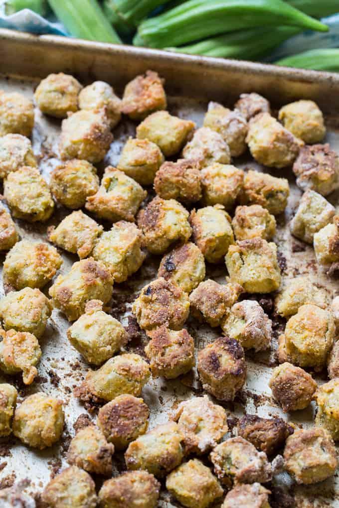 Crispy Baked Fried Okra