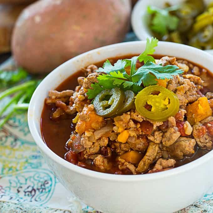 Crock Pot Paleo Sweet Potato Chili