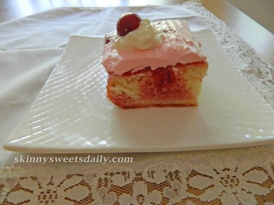 Old Fashioned Skinny Cherry Poke Cake