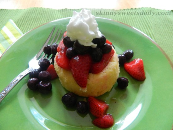 Light And Refreshing Dessert Cake With Fresh Fruit