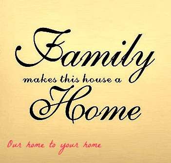 saying our home to your home fix