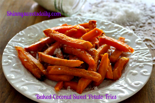 Baked Coconut Sweet Potato Fries