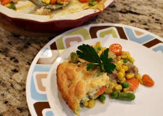 Meatball Pot Pie Casserole