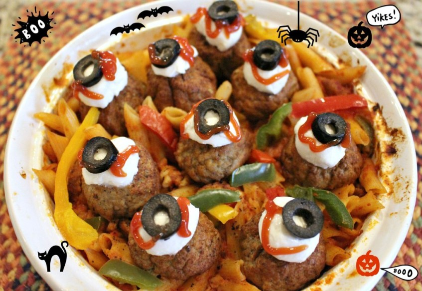Scary Eyeball Casserole, Boo!