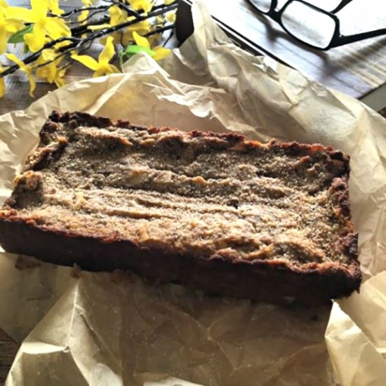 paleo banana chocolate chips bread