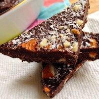 Guilt-Free Easter Almond-Coconut Chocolate Bark