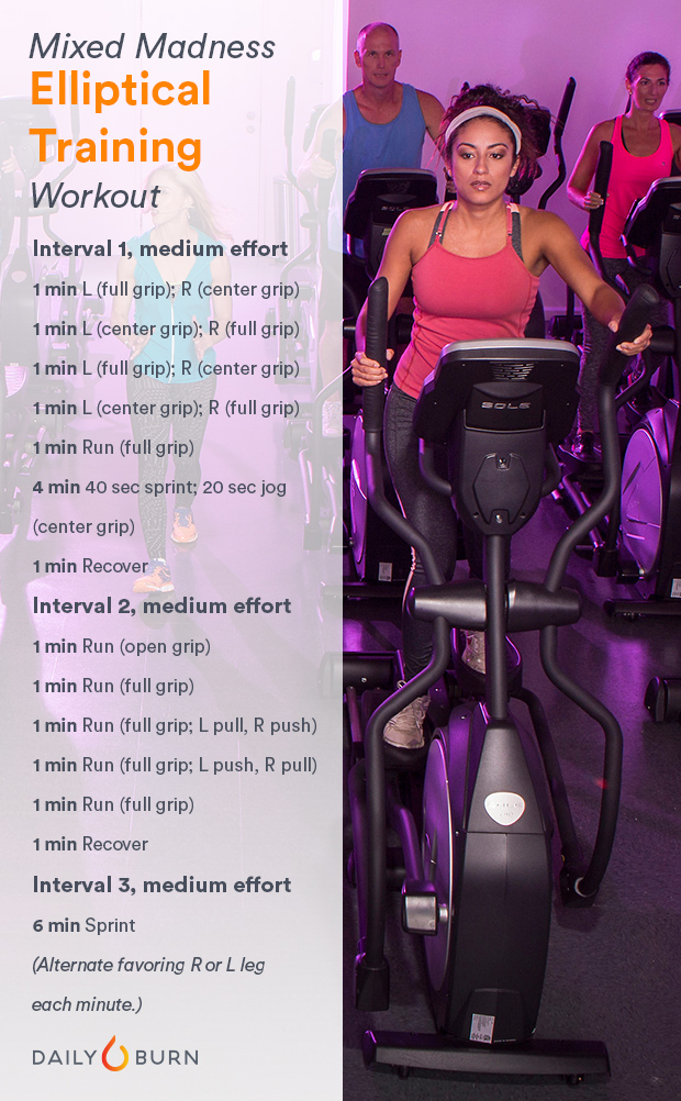 Elliptical HIIT Workout - Mixed Madness Routine