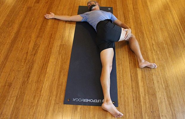 Yin Yoga for Runners: Supine Spinal Twist Pose