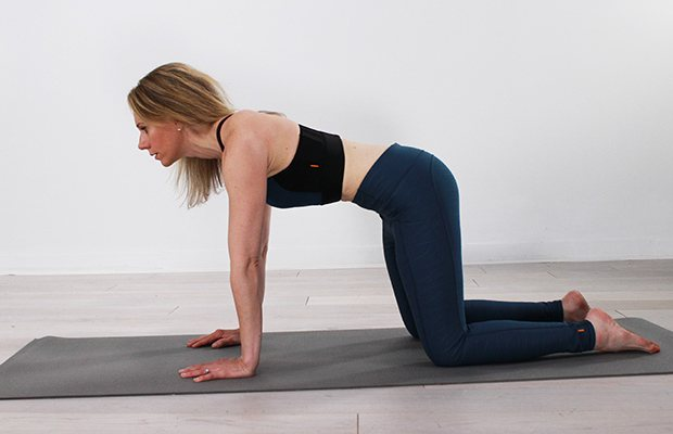 Diastasis Recti Core Exercises: Tabletop with Core Compressions
