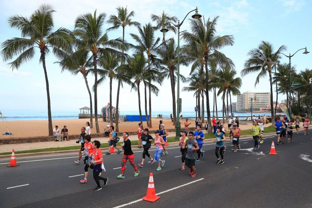 The 50 Best Half Marathons in the U.S. - The Hapalua Half Marathon in Waikiki, Hawaii