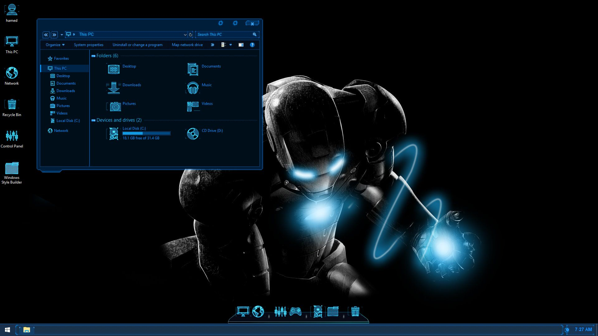 Jarvis SkinPack for Windows 78 110 RS2 & RS3 - SkinPack