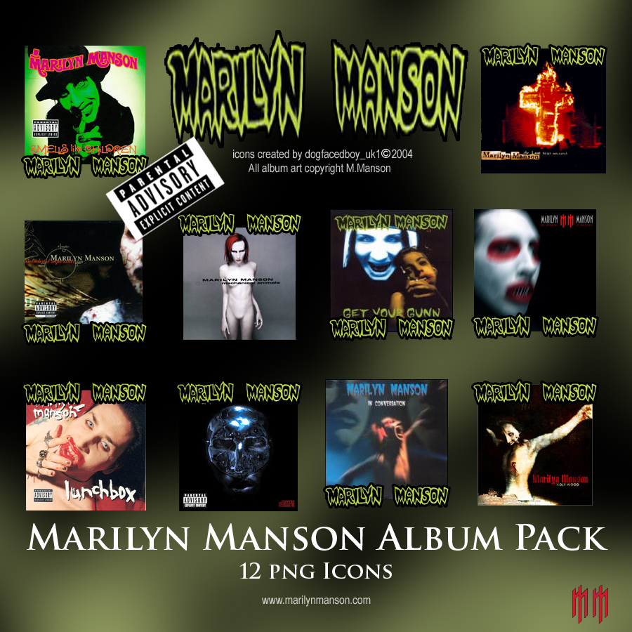 WinCustomize Explore ObjectDock Marilyn Manson Album Pack