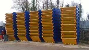 high stack of skip sizes available to hire in Dudley