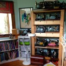sewing machines and wool drawers