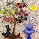 'Blossoms on Ravenhill' made in classes at Mrs Martins Quilt Shop by Brenda Marshall