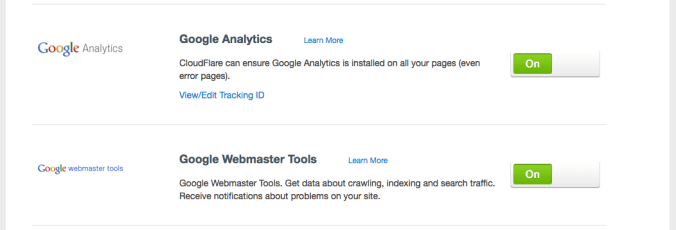 Google Analytics and Webmaster Tools