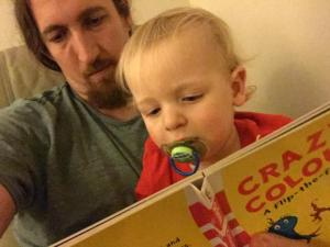 MiniBoyGeek and I reading