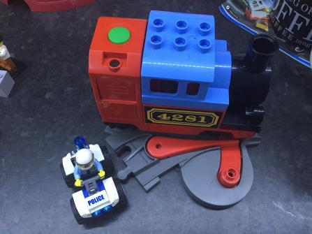 The loco going over S&C in a trailing directio the locomotive will set the switch, and it will toggle to that position.