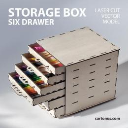 cartonus-storage-box-six-drawers