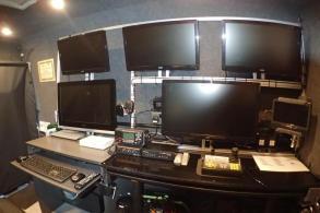Command desk monitor layout