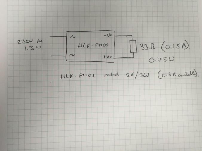 HLK-PM01 loaded with a 33Ω resistor