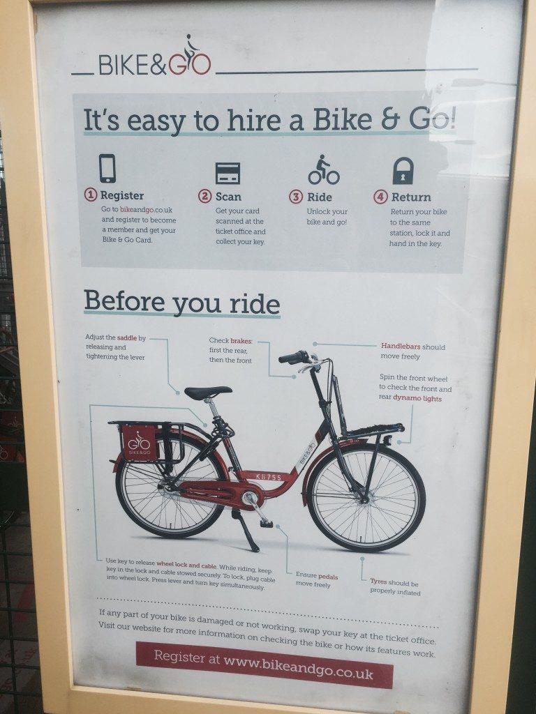 Bike and Go Instructions