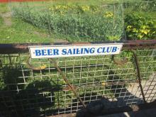 Beer Sailing Club, in the village of Beer itself