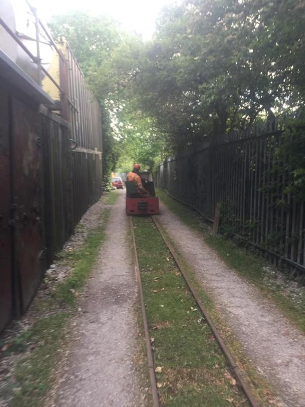 Ashton Packet Boat Co Ltd delivering our Gas bottle by train
