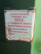 Sign on boaters hut