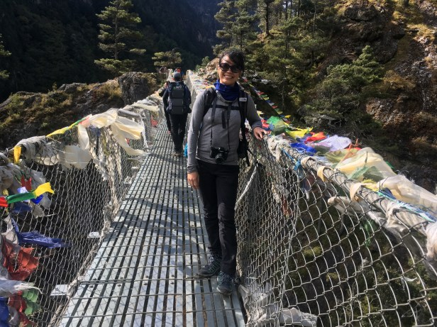 Got to have a photo on the Hillary Suspension Bridge.