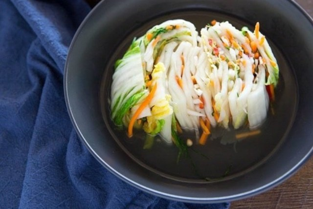 Surprisingly, it is simple to make white Kimchi fermented without the chili pepper powder. Unlike the spicy version, the white Kimchi tastes refreshing and mild. | Skip The Flip